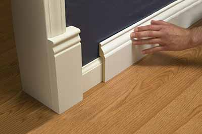Lowes Rapidfit on blog about baseboard sizes, Paper Moon Painting, San Antonio house painting