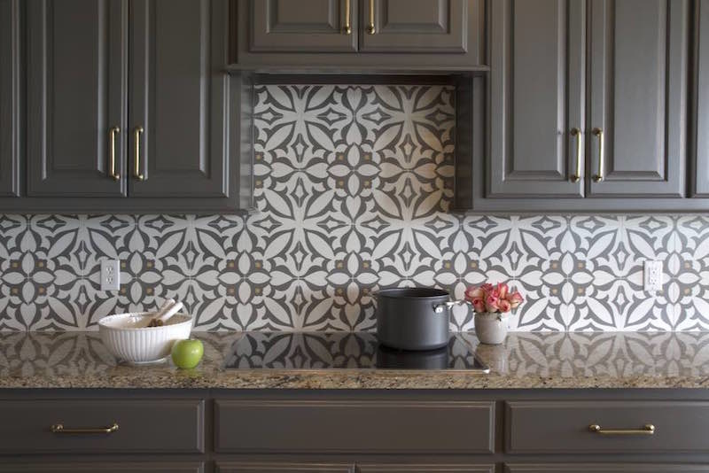 """A dramatic, evocative kitchen with cabinets painted in Benjamin Moore's """"Kendall Charcoal"""", Paper Moon Painting, San Antonio cabinet painting company"""
