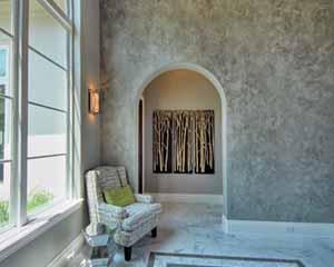 Venetian plaster, lime plaster in San Antonio by Paper Moon Painting