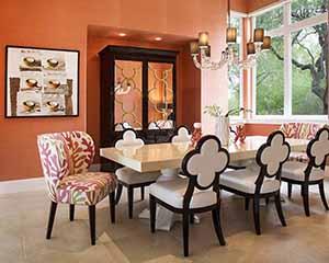 Wallpaper installers Paper Moon Painting, orange grasscloth installation, wallpaper installer near me