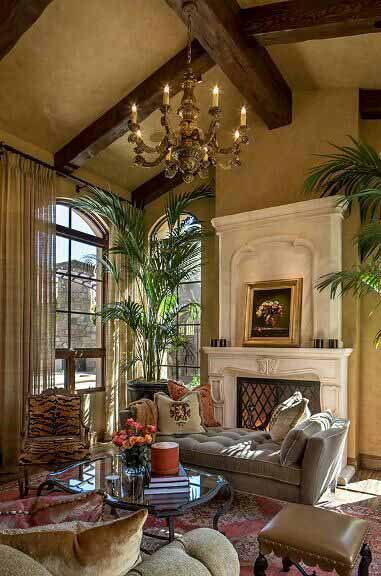Outdated brown living room example