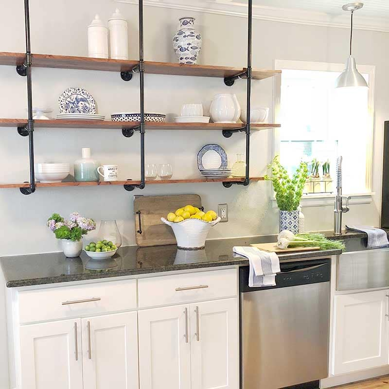 Kitchen painting, Sherwin Williams SW 7029 Agreeable Gray by Paper Moon Painting, Austin kitchen painting