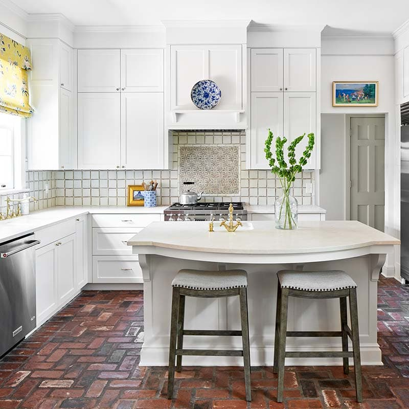 Alamo Heights kitchen cabinets painted by Paper Moon Painting in custom white