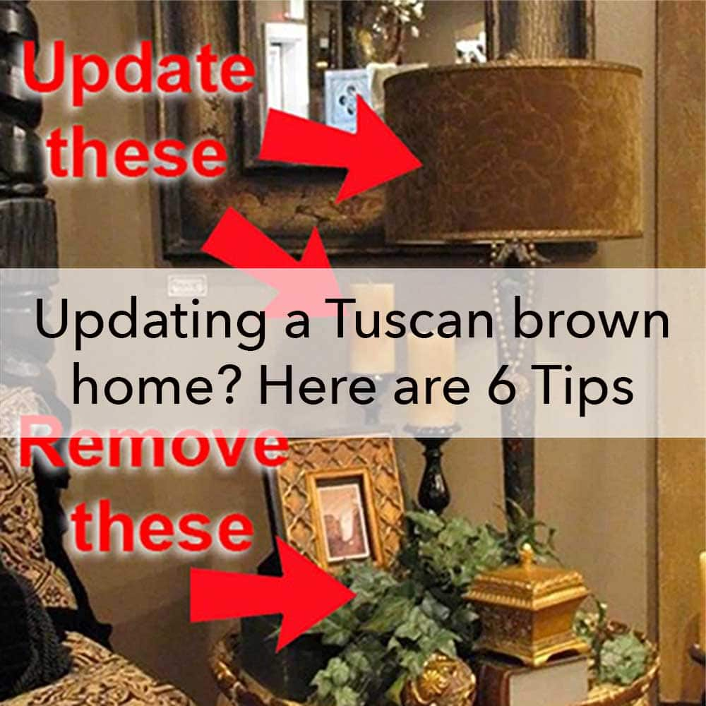 Updating a Tuscan brown home, 6 tips, blog post, interior design, Paper Moon Painting