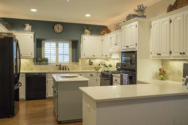 Mockup of kitchen accent wall, Paper Moon Painting blog