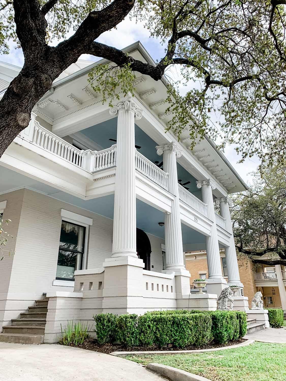 Historic exterior San Antonio home, Monte Vista, Paper Moon Painting