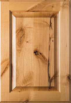 Knotty alder cabinet door sample