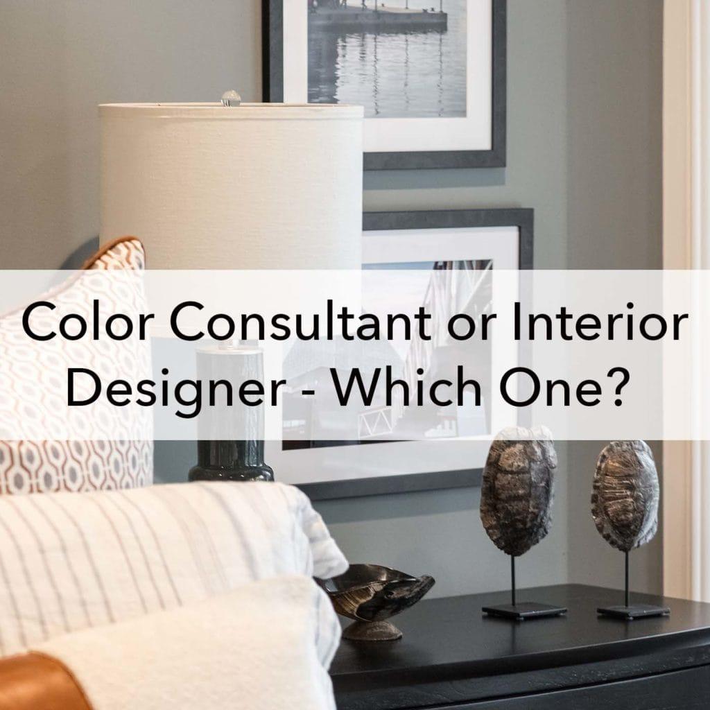 Color consultant or interior designer, blog