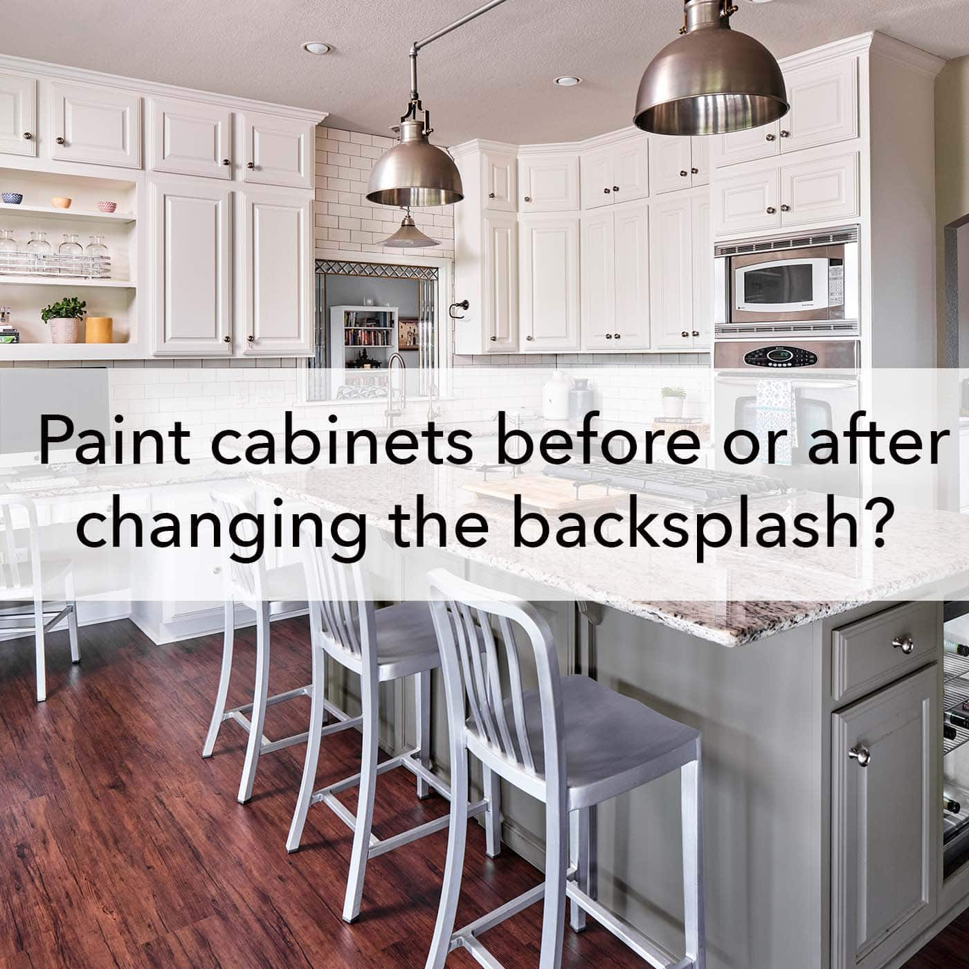 Image of: Painting Cabinets Before Or After Changing The Backsplash