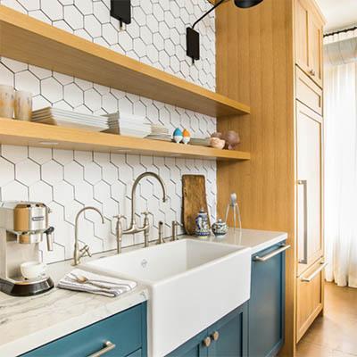 Houzz blog on alternatives to white subway tile, pic by McGraw Design n Dev