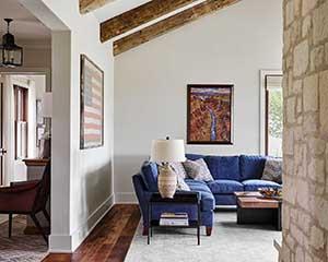 Hill Country Texas ranch home, San Antonio interior home painter